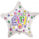 "HAPPY BIRTHDAY GIRL BALLOON 18"" 17924-18"